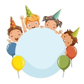 Verjaardagsfeestje vectorillustratie voor website banner