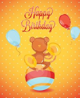 Verjaardagskaart aap