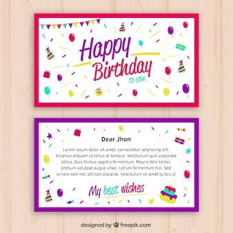 Verjaardagskaart desgin