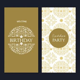 Verjaardagskaart malplaatjeontwerp