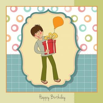 Verjaardagskaart met jongen