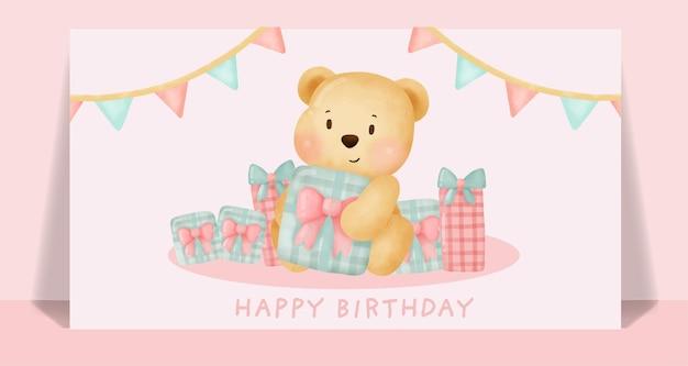 Verjaardagskaart met schattige eenhoorn met de ster.