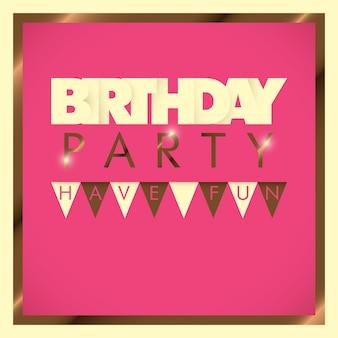 Verjaardagskaart ontwerp
