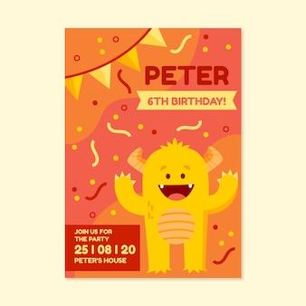 Verjaardagskaart stijl voor kinderen