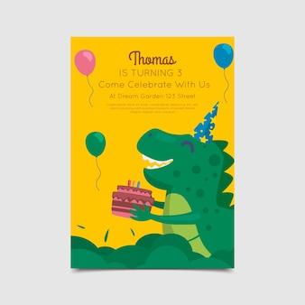 Verjaardagskaart stijlsjabloon