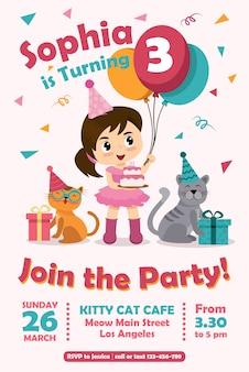 Verjaardagskaart uitnodigingen