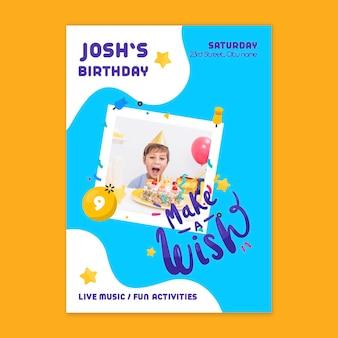 Verjaardagskaart voor kinderen