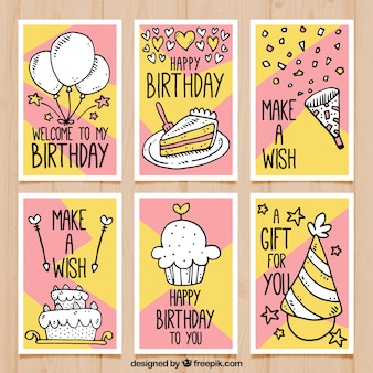 Verjaardagskaarten met tekeningen