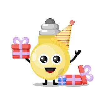 Verjaardagslamp schattige karakter mascotte