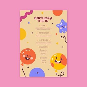 Verjaardagsmenu voor kinderen