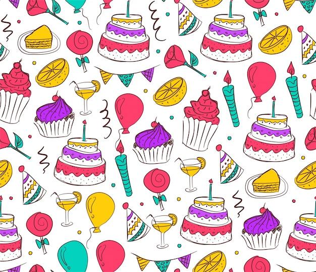 Verjaardagspatroon walpaper