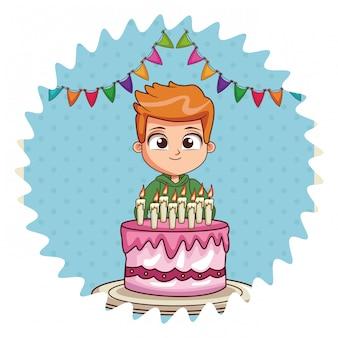 Verjaardagstaart en meisje