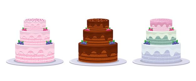 Verjaardagstaart geïsoleerd op een witte achtergrond
