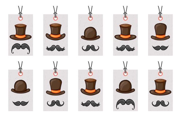 Verjaardagstags voor carnaval-items.