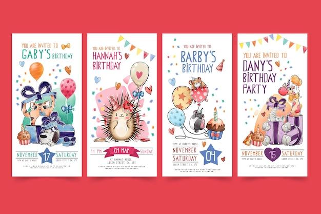 Verjaardagsverhalen voor kinderen op instagram