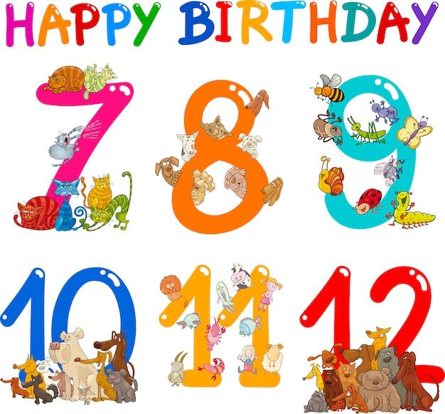Verjaardagsverjaardag cartoons instellen