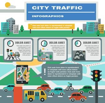Verkeer Infographics Set