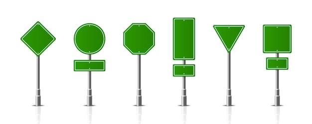 Verkeer weg realistische borden bewegwijzering waarschuwingsbord stop gevaar voorzichtigheid snelheid snelweg straat bord.
