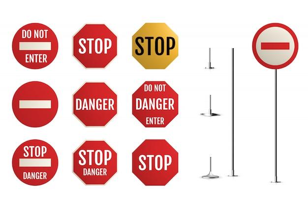 Verkeersborden. lege waarschuwing, gevaar