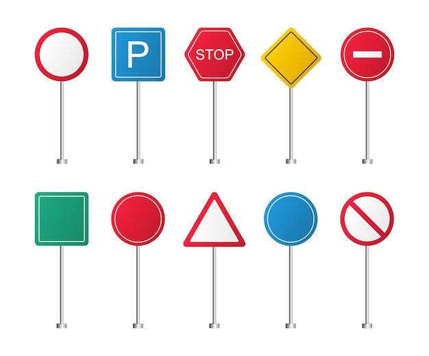 Verkeersborden wegwijzers route richting