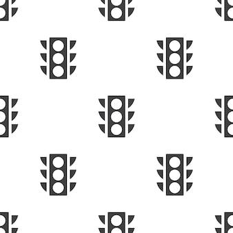 Verkeerslicht, vector naadloos patroon, bewerkbaar kan worden gebruikt voor webpagina-achtergronden, opvulpatronen