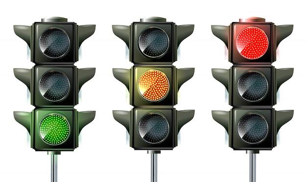 Verkeerslicht, verkeerslichtsequentie vector.