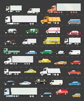 Verkeersopstopping op de weg, vervoer