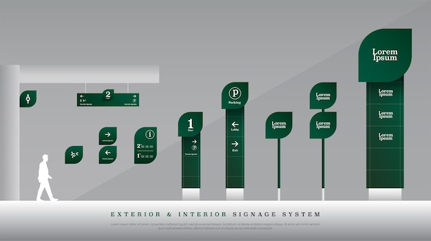 Verkeerstekensysteem voor binnen en buiten