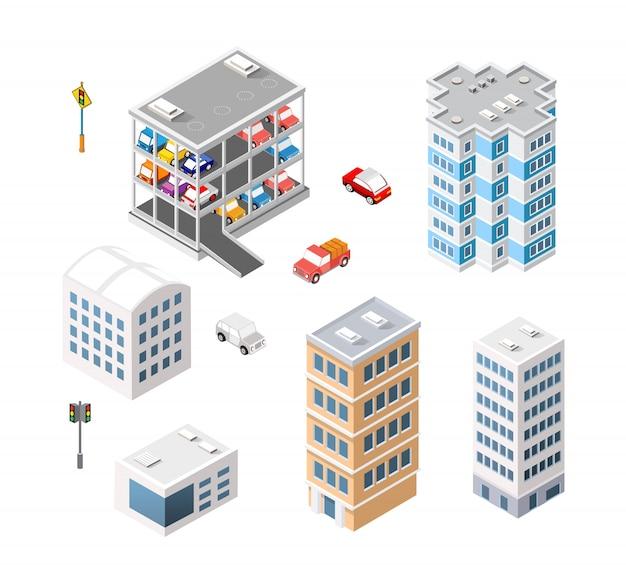Verkeersvervoer stad parkeergarage met meerdere verdiepingen