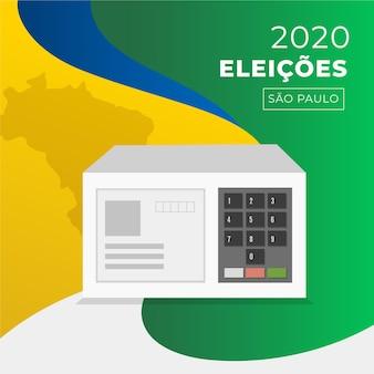Verkiezingen 2020 brazilië illustratie