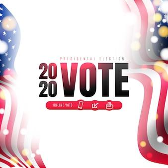 Verkiezingsdag. 2020 stemmen in de verenigde staten