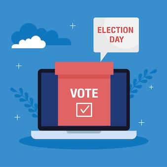 Verkiezingsdag illustratie Premium Vector