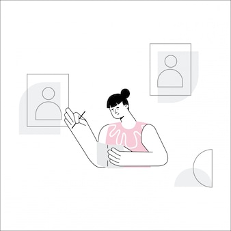 Verkiezingsdag vector illustratie