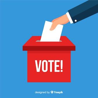 Verkiezingsdoos concept