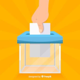 Verkiezingsdoos ontwerp