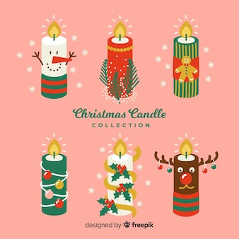 Verkleed kerst kaars collectie