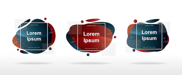 Verkoop banner lay-out modern met moderne abstracte vormen