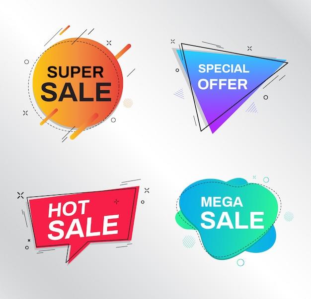 Verkoop banner ontwerpsjablonen. super verkoop, speciale aanbieding.