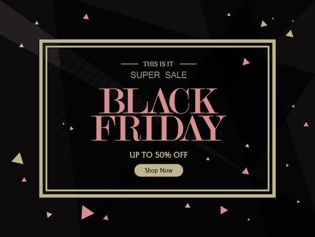 Verkoop banner sjabloon ontwerp achtergrond. black friday-verkoop