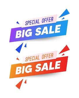 Verkoop banner sjabloonontwerp, super sale, einde van seizoen speciale aanbieding banner