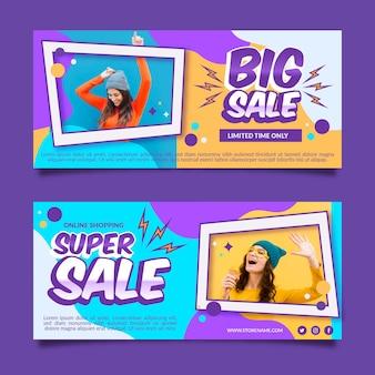 Verkoop banners ontwerpen