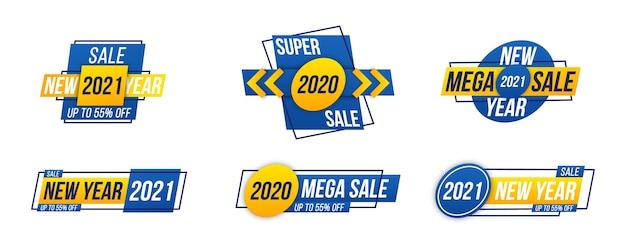 Verkoop banners Premium Vector