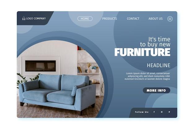 Verkoop bestemmingspagina voor platte meubels