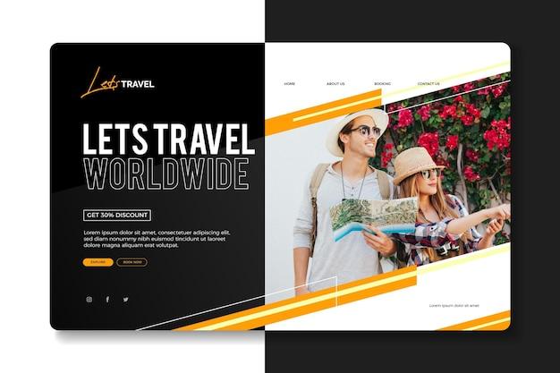 Verkoop bestemmingspagina voor reizen