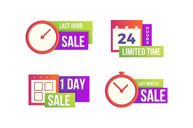 Verkoop countdown banner collectie