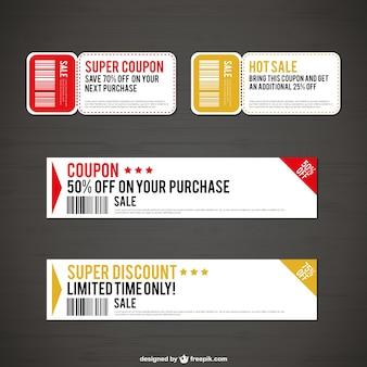 Verkoop en kortingen coupons