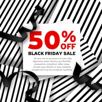Verkoop en prijsverlaging voor black friday-vakantie in de herfst. reclame voor product, kortingsbonnen en goedkope kosten bij het winkelen