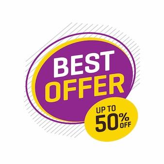 Verkoop en speciale aanbieding-tag, prijskaartjes, verkooplabel.