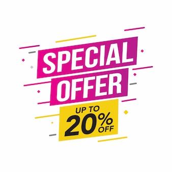 Verkoop en speciale aanbieding-tag, prijskaartjes