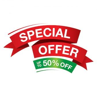 Verkoop en speciale aanbieding-tag